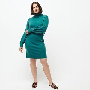 J. Crew Green Alpaca Wool Soft Yarn Sweater Dress